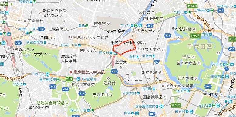 君の名は。瀧の家の場所は千代田区六番町